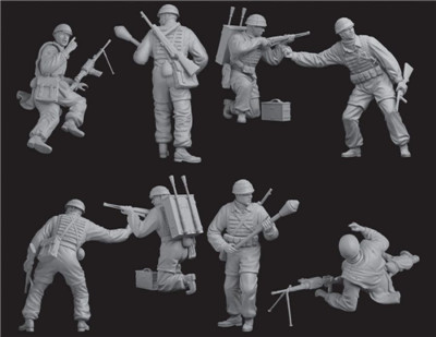 1:35 Dragon Figures Rommel & Staff North Africa 1942 6723