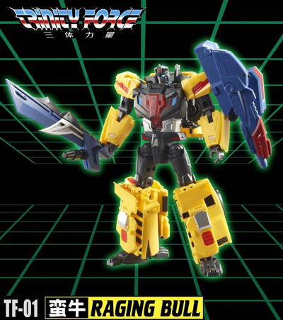 Transformers TFC Toys TFCToys Trinity Force TF-01 Raging Bull