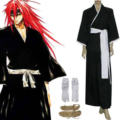 Bleach 6th Division Lieutenant Abarai Renji Cosplay Costume