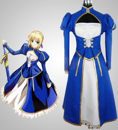 Fate Stay Night Saber Battle Version Cosplay Costume