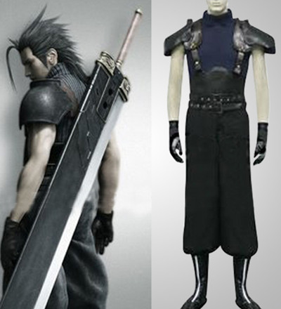 Final Fantasy VII Zack Halloween Cosplay Costume