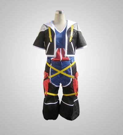 Kingdom Hearts Ver.2 Sora Red And Blue Cosplay Costume