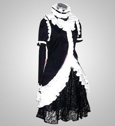 Princess Black Dress Lolita Cosplay Costume