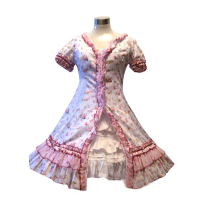 Garden Style Pink Broken Flower Lolita Dress