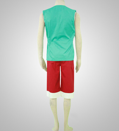 One Piece 3th Monkey D. Luffy Green Cosplay Costume