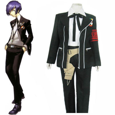 Persona 3 Black Suit Cosplay Costume