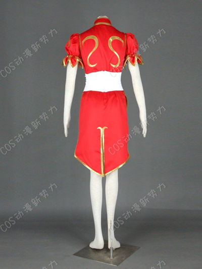 Red Street Fighter Chun-Li Cosplay Costume