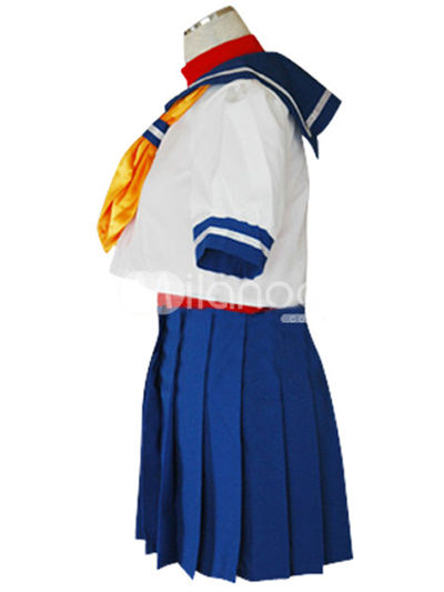 Street Fighter Sailor Suit Cosplay Costume