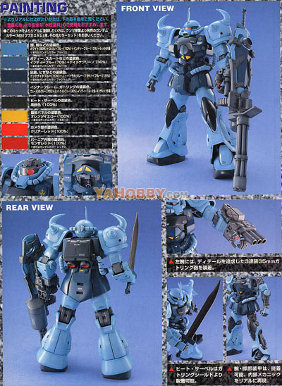 Gundam Master Grade 1/100 Model Kit MS-07B-3 Gouf Custom