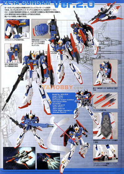 Gundam Master Grade MSZ-006 Zeta Ver.2.0 HD Color Ltd Edition