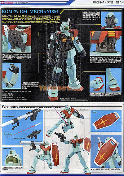 Gundam Master Grade 1/100 Model Kit RGM-79(G)GM Ver.2.0
