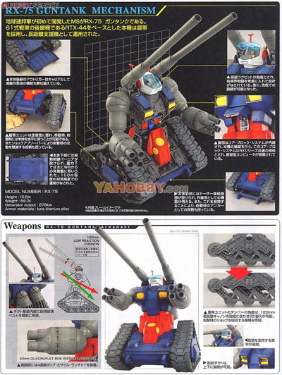 Gundam Master Grade 1/100 Model Kit MG RX-75 Guntank