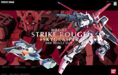 Gundam Perfect Grade 1/60 Model Kit Strike Rouge + Skygrasper