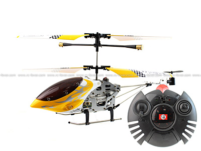 SanHuan 6020-1 MAX-Z Swift 3CH RC Helicopter RTF w/ Gyro Yellow