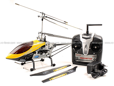SanHuan 8830 4CH FP Metal Helicopter RTF 2.4GHz w/ Gyro Yellow