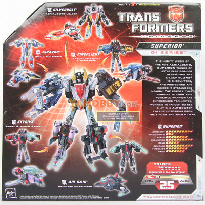 Transformers Universe 25th Anniversary Superion Combiner