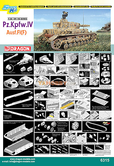1:35 Dragon PzKpfw Panzer IV Ausf.F-1 ~ Smart Kit 6315