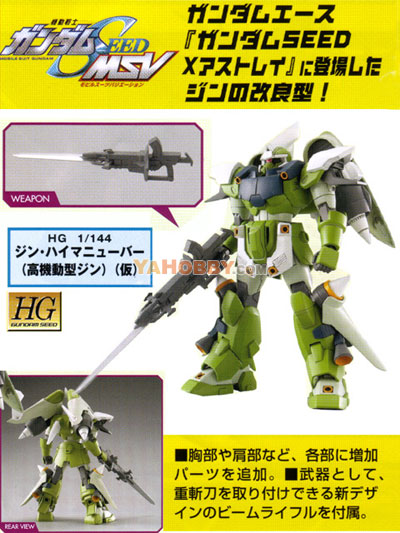 Gundam Seed Destiny HG 1/144 Model Kit Ginn Type High Maneuver