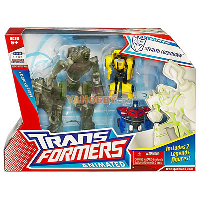 Transformers Animated Stealth Lockdown with Optimus Prime Bumblebee