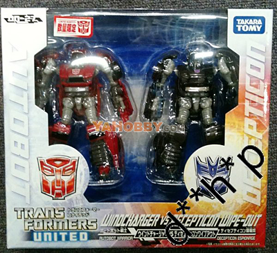 Japanese Transformers United UN-27 Windcharger & Decepticon Wipeout