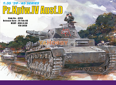 1:35 Dragon PzKpfw Panzer IV Ausf D (3 in 1) Superkit 6265