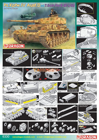1:35 Dragon PzKfpw Panzer IV Ausf D Up-Gunned 6330