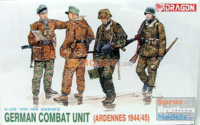 You are looking at a 1:35 Dragon German Combat Unit Ardennes 1944-45 6002!
