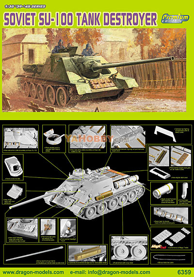 1:35 Dragon Russian SU-100 Tank Destroyer Premium Edition 6359