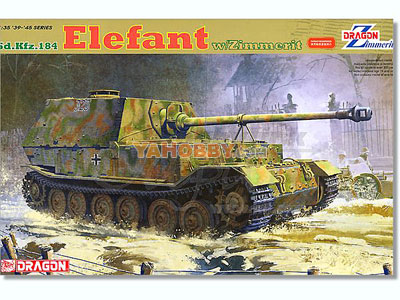 1:35 Dragon Tank Model Kits SdKfz 184 Elefant w/Zimmerit 6465