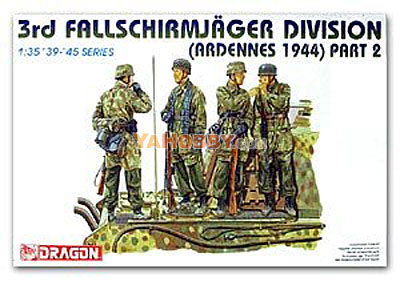 1:35 Dragon German 3rd Fallschirmjager DIvision Ardennes 6143