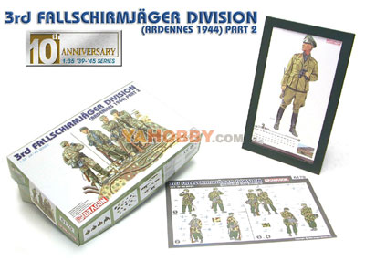 1:35 Dragon 3rd Fallschirmjager Division Ardennes 1944 6170