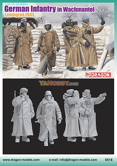 1:35 Dragon German Infantry in Wachtmantel Leningrad 1943 6518