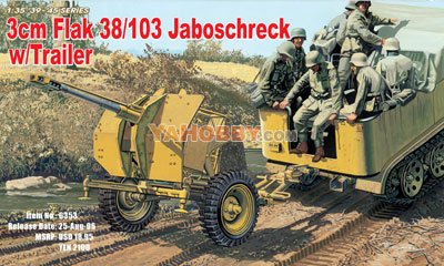 1:35 Dragon 3cm Flak 103/38 Jaboschreck with Trailer 6353