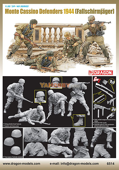 1:35 Dragon Monte Cassino Defenders 1944 Fallschirmjager 6514