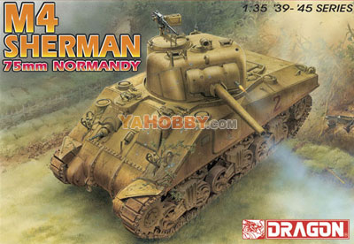 1:35 Dragon Tank Model Kits M4 Sherman 75mm Normandy 6511