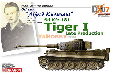 1:35 Dragon SdKfz 181 Tiger I Late Alfred Kurzmaul DX07 6416