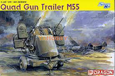 1:35 Dragon Tank Model Kits Quad Gun Trailer M55 Smart Kit 6421