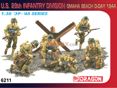 1:35 Dragon US 29th Infantry Division Omaha Beach D-Day 1944 6211