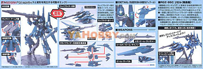 Gundam HGUC 1/144 Model Kit RGZ-95C ReZEL Commander