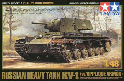 1:48 Tamiya Russian Heavy Tank KV-1 w/Applique Armor 32545