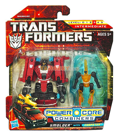Transformers 2010 Commander 2-Packs Smolder with Chopster
