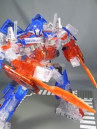 Transformers Movie 2 ROTF LUCKY DRAW Clear Optimus Prime