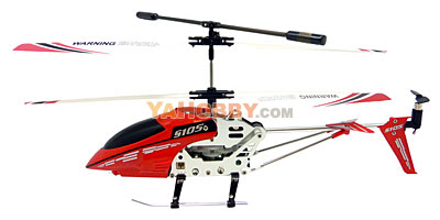 Syma 3 Channel S105 Mini Indoor Co-Axial Metal Frame Helicopter Red