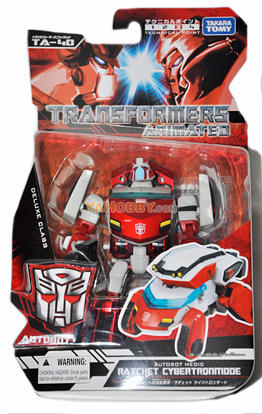 Japanese Transformers Animated - TA40 / TA-40 Ratchet Cybertron Mode