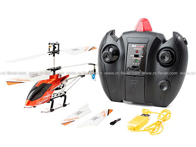 ZR Z006 Infrared 3CH Mini RC Helicopter RTF w/ Gyro Orange