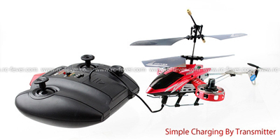 ZR Z008 Infrared 4CH Micro RC Helicopter RTF w/ Gyro Red