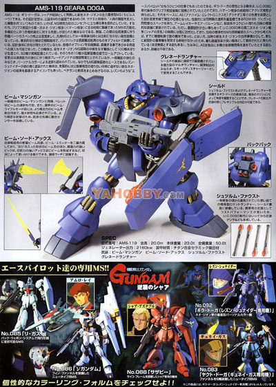 Gundam HGUC 1/144 Model Kit Geara Doga Rezin Custom