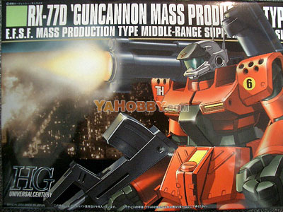 Gundam HGUC 1/144 Model Kit RX-77D Guncannon Production Type