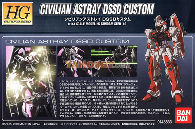 Gundam Seed HG 1/144 Model Kit UT-1D Civilian Astray DSSD Custom