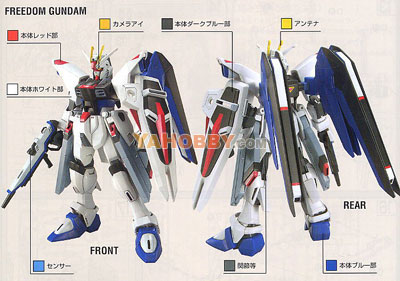 Gundam Seed Destiny HG 1/144 Model Kit ZGMF-X10A Freedom Gundam